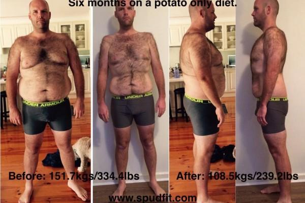 Άντρας έτρωγε μόνο πατάτες για έναν ολόκληρο χρόνο και έχασε... 50 κιλά! (photos)