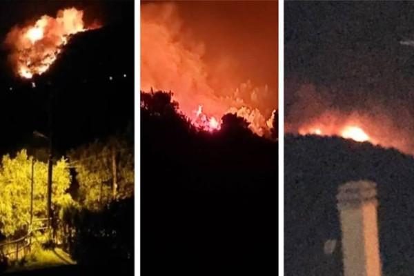Ισχυρή πυρκαγιά στη Νέα Μάρκη: Στις 4 τα ξημερώματα με ντουντούκες έδιωξαν κατοίκους από τα σπίτια τους!