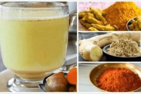 Ρόφημα κουρκουμά με λεμόνι για απώλεια βάρους, αποτοξίνωση και με πράσινο τσάι για αντιγήρανση και λάμψη