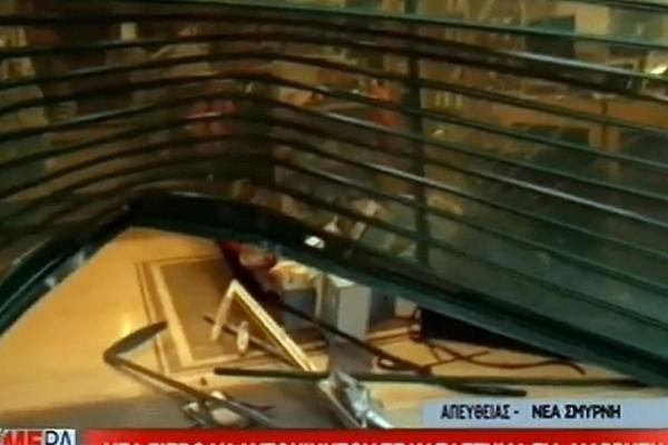 Νέα Σμύρνη: Επιχείρησαν να μπουν σε κατάστημα ηλεκτρικών ειδών με αυτοκίνητο!