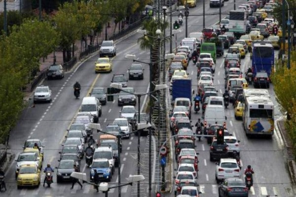 Κυκλοφοριακό κομφούζιο στο κέντρο της Αθήνας! Που έχει μποτιλιάρισμα; (photos)