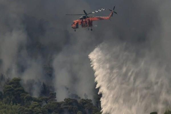 Σε ύφεση είναι η μεγάλη πυρκαγιά στο Λουτράκι! (Video)