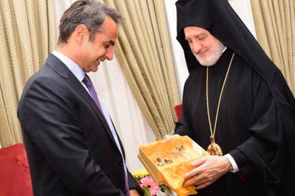 Κυριάκος Μητσοτάκης: Η συνάντηση με τον Αρχιεπίσκοπο Αμερικής!