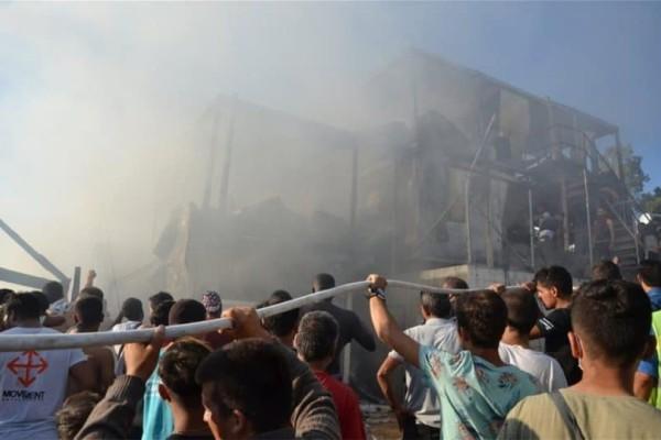 Εκρηκτική η κατάσταση στην Μόρια! Μάνα και παιδί απανθρακώθηκαν!