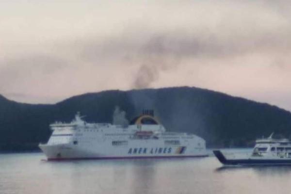 Φωτιά σε πλοίο ανοικτά της Ηγουμενίτσας με 578 επιβάτες!