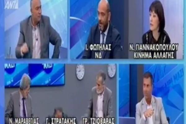 Απίστευτο! Δημοσιογράφος του ANT1 έπεσε από την καρέκλα on air! (Video)