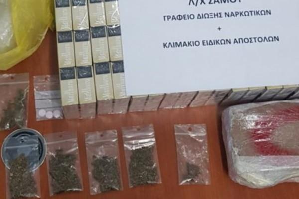 Σάμος: Συνελήφθησαν για διακίνηση λαθραίων τσιγάρων και ναρκωτικών!