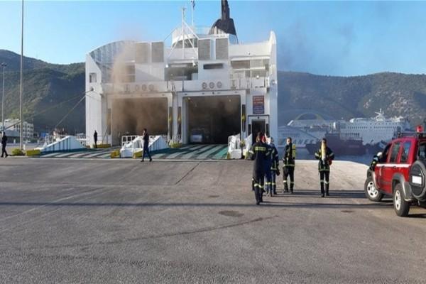 Ηγουμενίτσα: Από νταλίκα ξεκίνησε η φωτιά στο πλοίο! (Video)