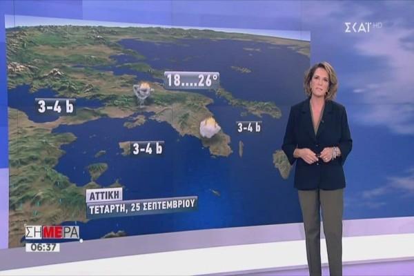 Χριστίνα Σούζη: Βροχές και τοπικές καταιγίδες στα νησιά του Αν. Αιγαίου και τα Δωδεκάνησα! Βελτιωμένος ο καιρός στη Δυτική Ελλάδα! (Video)