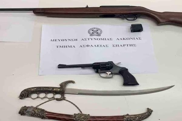 Σπάρτη: Παππούς είχε στην κατοχή του όπλα του Β' Π.Π και του 1821!