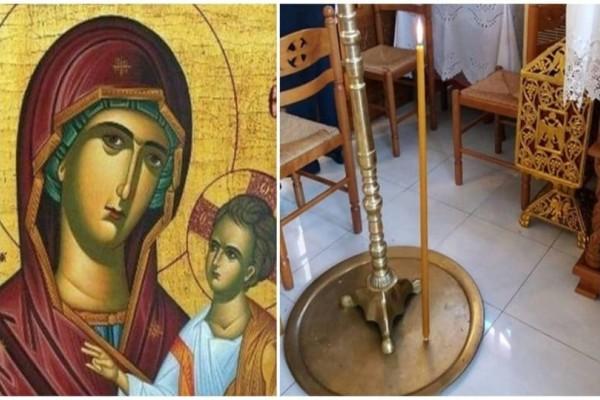 Λήμνος: Λαμπάδα έπεσε και στάθηκε όρθια μέσα σε Εκκλησία! Το τάμα στην Παναγία!