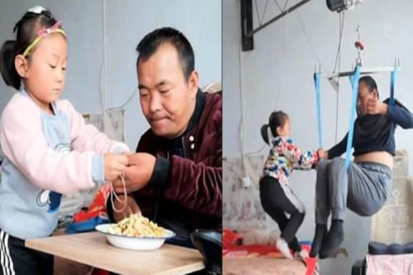 Αυτή η 6χρονη φροντίζει μόνη της τον παράλυτο πατέρα της από τότε που τους εγκατέλειψε η μητέρα της!