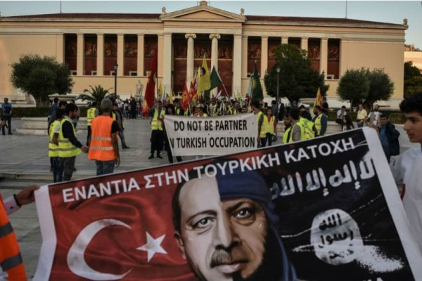 Πορεία Κούρδων σε Αθήνα και Θεσσαλονίκη για την εισβολή της Τουρκίας στη Συρία!