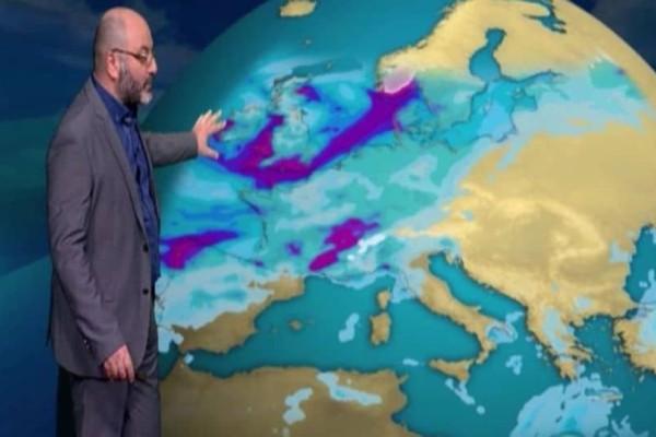 Καιρός: Χειμωνιάτικη προειδοποίηση από τον Σάκη Αρναούτογλου! (photo)