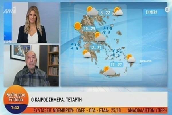 Τάσος Αρνιακός: Βελτιωμένος ο καιρός αλλά...! (Video)