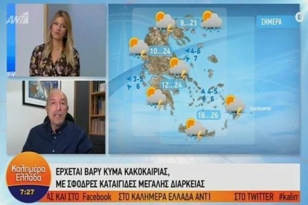 Κεραυνοί,χαλάζι και υδροστρόβιλοι θα πλήξουν την Ελλάδα! Ο Τάσος Αρνιακός προειδοποιεί! (Video)