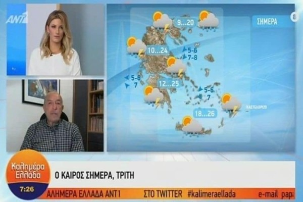 Τάσος Αρνιακός: Φθινοπωρινό το σκηνικό του καιρού με αρκετές βροχές! Ποιες περιοχές θα «επηρεαστούν» περισσότερο; (Video)
