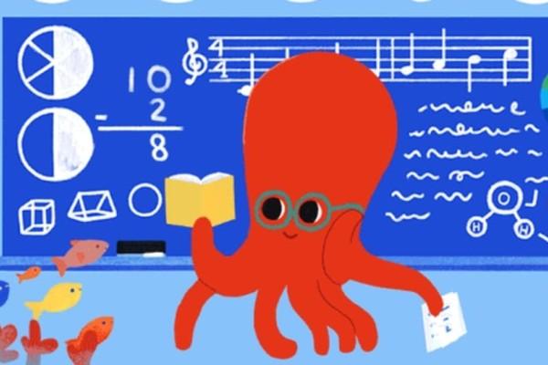Το σημερινό doodle της Google είναι αφιερωμένο στην ημέρα των Εκπαιδευτικών!