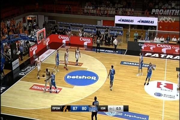 Basket League: Προμηθέας - Ιωνικός 87-80!  Ζορίστηκαν αλλά συνεχίζουν το σερί οι Πατρινοί! (Video)