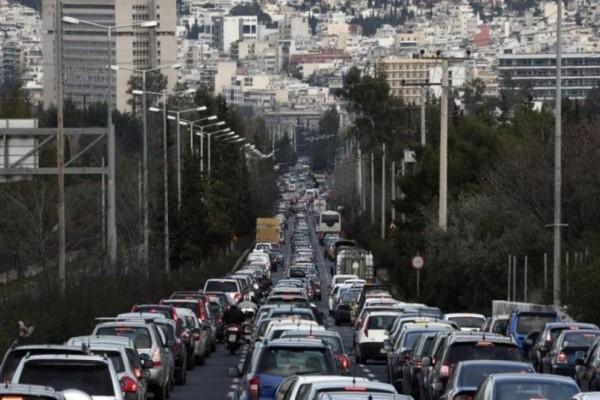 Αυξημένη η κίνηση στους δρόμους της Αθήνας! Που υπάρχουν προβλήματα; (photo)