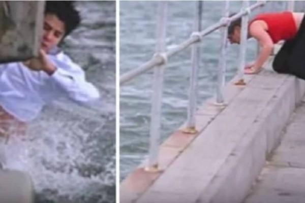 Πήγε να πετάξει τη στάχτη της γιαγιάς του στη θάλασσα – Τότε βλέπει το απίστευτο και βουτάει δίχως δεύτερη σκέψη στο νερό! (Video)