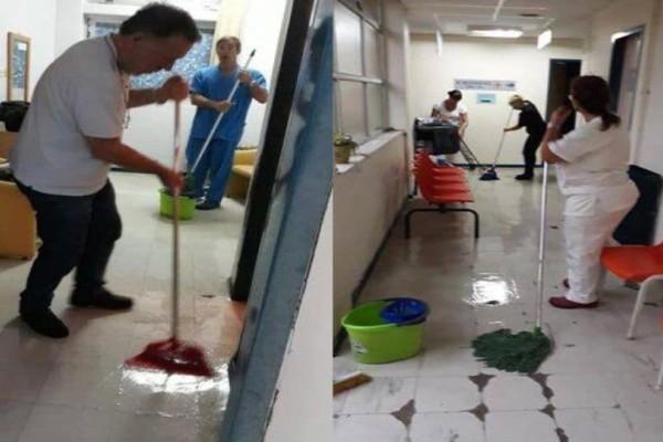 Συναγερμός στην Κέρκυρα από την κακοκαιρία! Πλημμύρισε το Κέντρο Υγείας! (Video)
