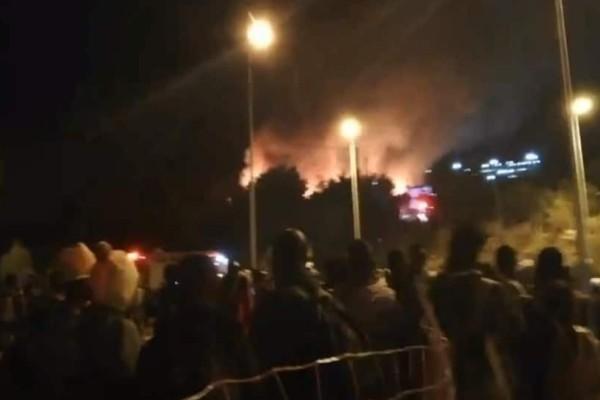 Σάμος: φωτιά στο κέντρο υποδοχής από μετανάστες!