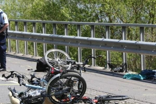 Τραγωδία: Ποδηλάτης σκοτώθηκε μόλις 100 μέτρα από τον τερματισμό! (Video)