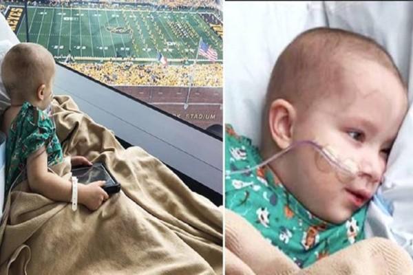 Αυτό το παιδάκι πάσχει από σπάνια ασθένεια - Μια μέρα 70.000 φίλαθλοι γύρισαν στο παράθυρό του και τον χαιρέτησαν, τότε πήρε την χαρά που δεν είχε!