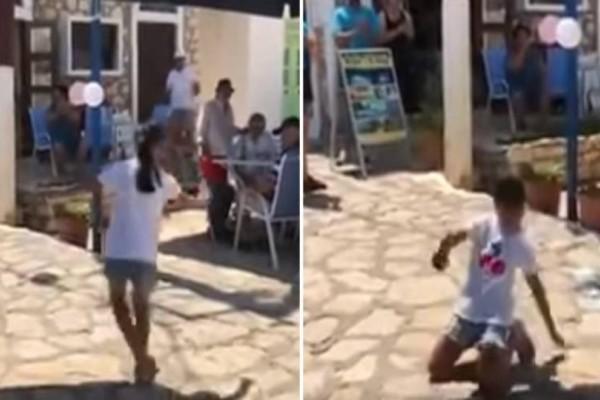 Ελληνική λεβεντιά: Αυτό το κοριτσάκι χόρεψε βαρύ ζεϊμπέκικο και έβαλε κάτω ακόμα και τους άντρες!