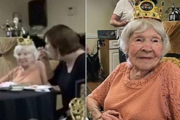 Γιαγιά 105 ετών λέει πως το μυστικό της μακροζωίας είναι τα τσιγάρα, τα ποτά και τα ξενύχτια!
