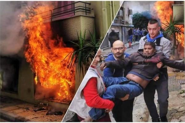 Συγκλονίζουν οι φωτογραφίες από την φωτιά στην Κυψέλη!