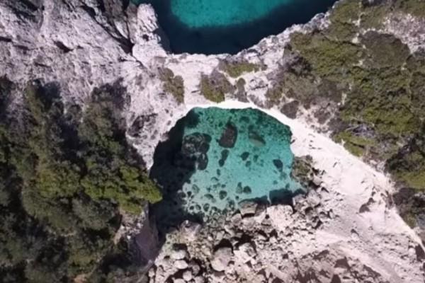 Το Γαλάζιο παράθυρο του Κορινθιακού! Μια θέα που κόβει την ανάσα! (Video)