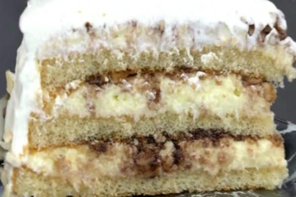 Εύκολη και λαχταριστή τούρτα αμυγδάλου με καρύδα! (Video)