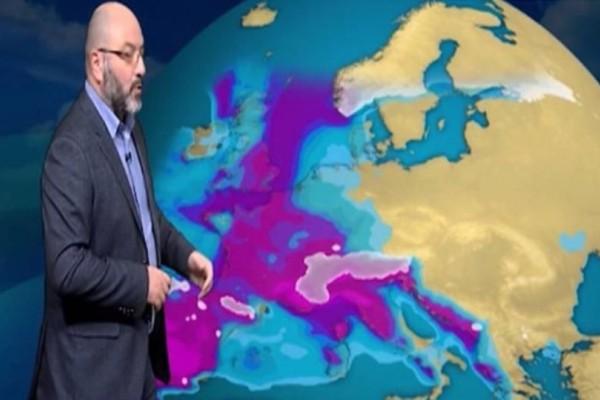 Έκτακτη ενημέρωση από τον Σάκη Αρναούτογλου: Πτώση θερμοκρασίας και πυκνές χιονοπτώσεις!