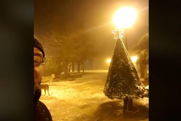Ισχυρή χιονόπτωση στην Θεσσαλονίκη: Το πρωινό μήνυμα του Σάκη Αρναούτογλου!