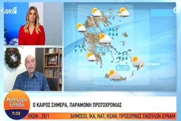 Τάσος Αρνιακός: Πρόσκαιρη βελτίωση του καιρού αλλά έρχεται νέο κύμα κακοκαιρίας...! (Video)