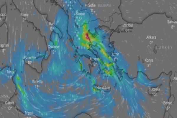 Καιρός σήμερα: Έντονα καιρικά φαινόμενα με καταιγίδες και ισχυρούς ανέμους!