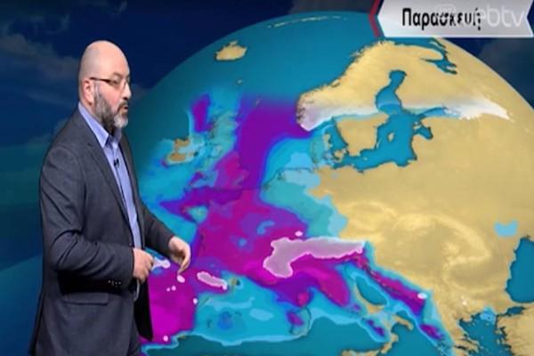 Σαββατοκύριακο κακοκαιρίας στην Ελλάδα! Ο Σάκης Αρναούτογλου προειδοποιεί!