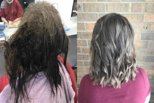 Αυτή η κομμώτρια μεταμόρφωσε μια κοπέλα που πάσχει από κατάθλιψη και είχε να χτενίσει τα μαλλιά της χρόνια!