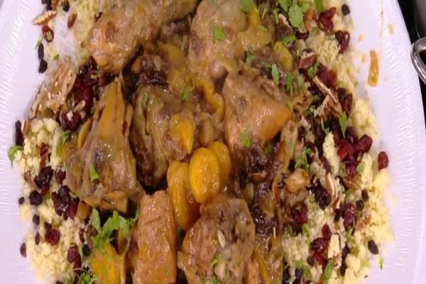 Λαχταριστό κοτόπουλο με δαμάσκηνα και βερίκοκα! (Video)