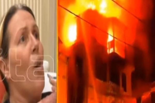 Συγκλονίζει η μητέρα που πήδηξε με το παιδί της από φλεγόμενο σπίτι στην Κέρκυρα: «Είδαμε τον θάνατο...»! (Video)