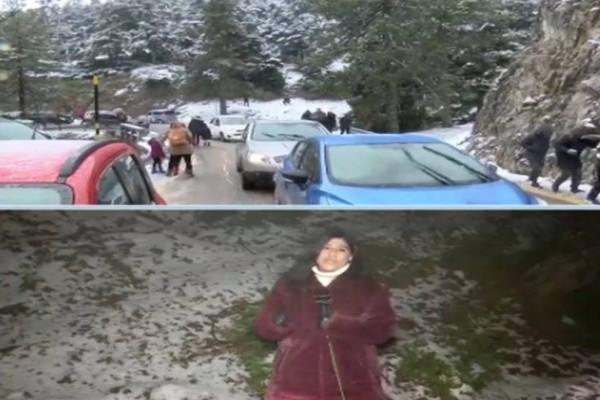 Έλιωσαν τα χιόνια στην Πάρνηθα! (video)