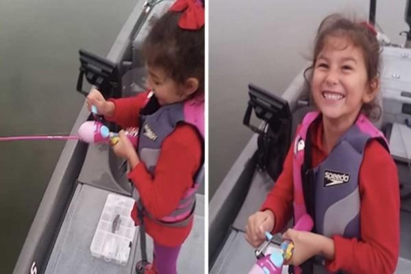 Αυτό το κοριτσάκι πήγε για ψάρεμα με το καλάμι της Μπάρμπι...Δεν φανταζόταν την τρομακτική συνέχεια!