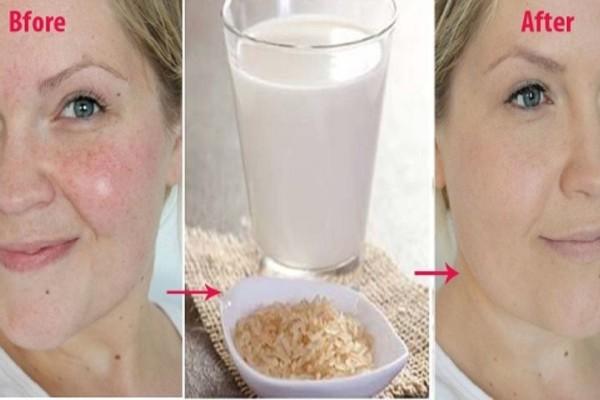 Έπλυνε με νερό από βρασμένο ρύζι το πρόσωπό της... Το αποτέλεσμα είναι εκθαμβωτικό!