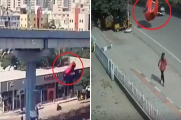 Σοκαριστικό τροχαίο στην Ινδία: Αυτοκίνητο έπεσε πάνω σε πεζούς! (Video)