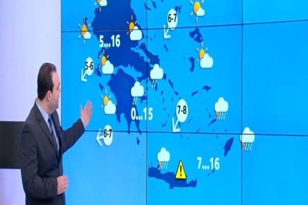 Έρχεται κακοκαιρία στη χώρα με ισχυρές βροχές και καταιγίδες! Η προειδοποίηση του Κλέαρχου Μαρουσάκη! (Video)