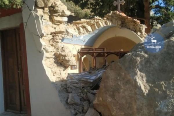 Σύμη: Καταστράφηκε μοναστήρι από κατολίσθηση!