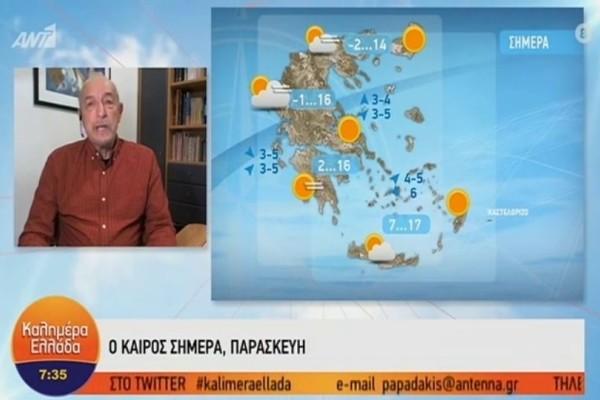 10-12 βαθμούς κάτω η θερμοκρασία! Προειδοποίηση από το Τάσο Αρνιακό για την αλλαγή του καιρού! (Video)