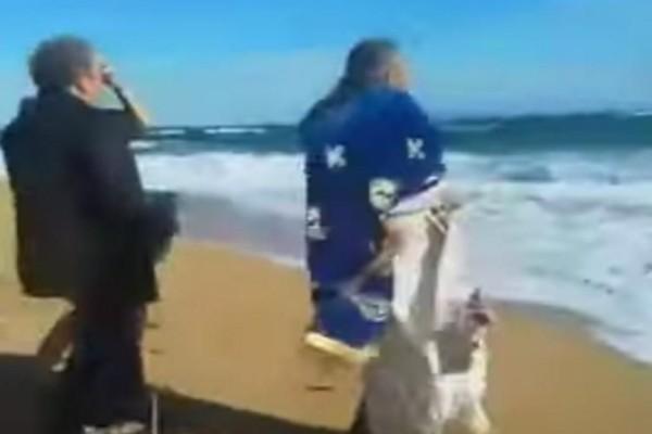 Θεοφάνεια: Ιερέας έπεσε μέσα στην θάλασσα από τους ανέμους στην Κεφαλονιά!